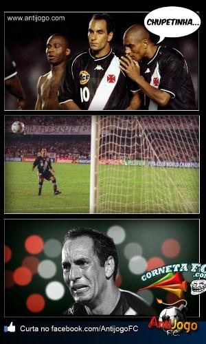 Corneta FC: Não fica chateado, Fabuloso! Edmundo também já teve dias de chupetinha, lembra?