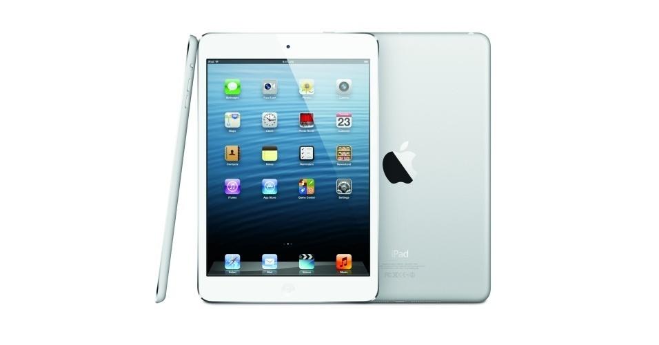 23.out.2012 - A Apple apresentou o novo iPad mini. O modelo possui 7,9 polegadas de tela. Os preços para as versões apenas com Wi-Fi são US$ 329 (16 GB), US$ 429 (32 GB) e US$ 529 (64 GB). Todos os modelos têm um acréscimo de US$ 130, caso o cliente queira a opção de conexão 4G no gadget