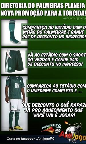 Corneta FC: Eliminado da Sul-Americana, Palmeiras lança promoção para torcida
