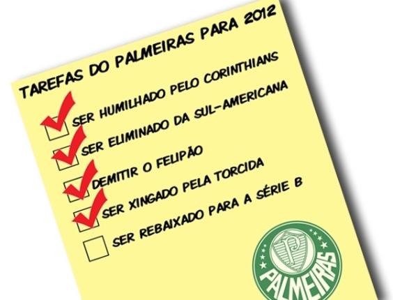 Corneta FC: Palmeiras fica a um vexame de cumprir tarefas de 2012