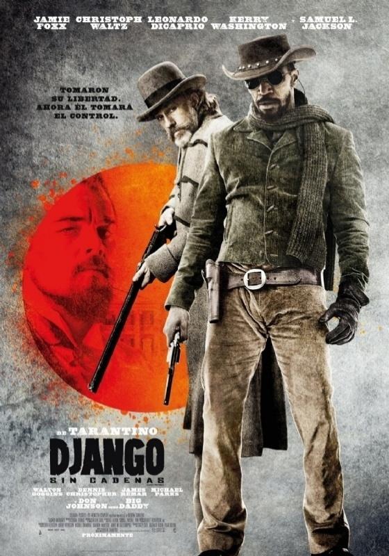"""Pôster argentino de """"Django Livre"""", que no país se chamará """"Django Sin Cadenas"""""""