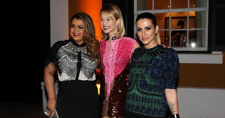 Preta Gil, Mariana Ximenes e Cleo Pires comparecem em jantar da Louis Vuitton no Jardim Europa, São Paulo (24/10/12)