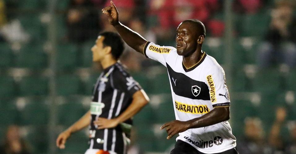 Seedorf comemora o segundo gol do Botafogo na partida contra o Figueirense, em Florianópolis