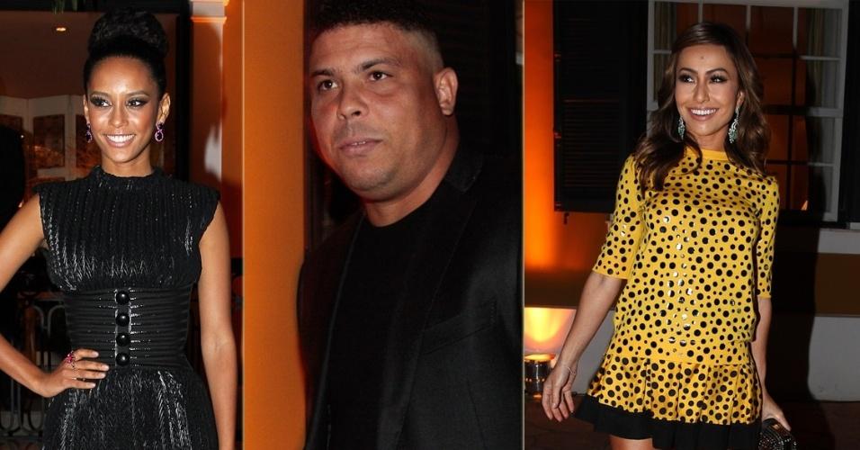 Taís Araújo, Ronaldo e Sabrina Sato comparecem em jantar da Louis Vuitton no Jardim Europa, São Paulo (24/10/12)