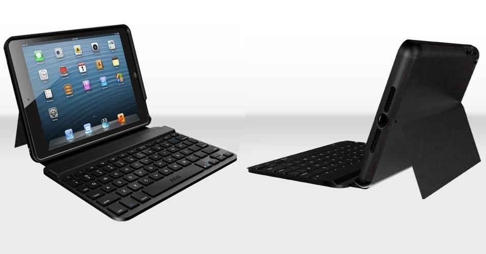 26.out.2012 - A ZAGGkeys lançou uma capa com teclado para iPad mini, da Apple. O teclado se comunica com o iPad via bluetooth. O produto está disponível em versões compacta e completa (com mais teclas), por US$ 89 (cerca de R$ 180)