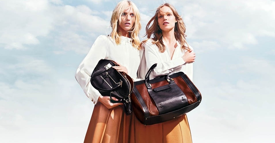 Anja Rubik e Suvi Koponen na campanha Inverno 2013 da Chloé
