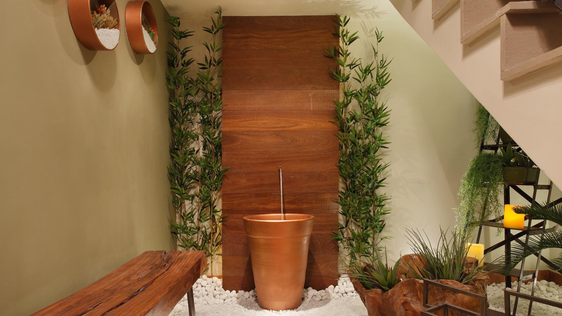 Espaço Zen criado por Cristiana Khun e Livia Corrêa Balduino. A mostra Morar Mais por Menos RJ segue até dia 4 de novembro de 2012, na Av. Epitácio Pessoa, 4.866, Rio de Janeiro