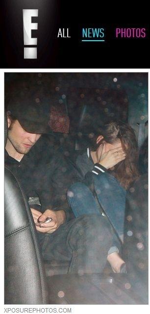 Kristen Stewart e Robert Pattinson são fotografados em saída de casa noturna em Hollywood (25/10/12)