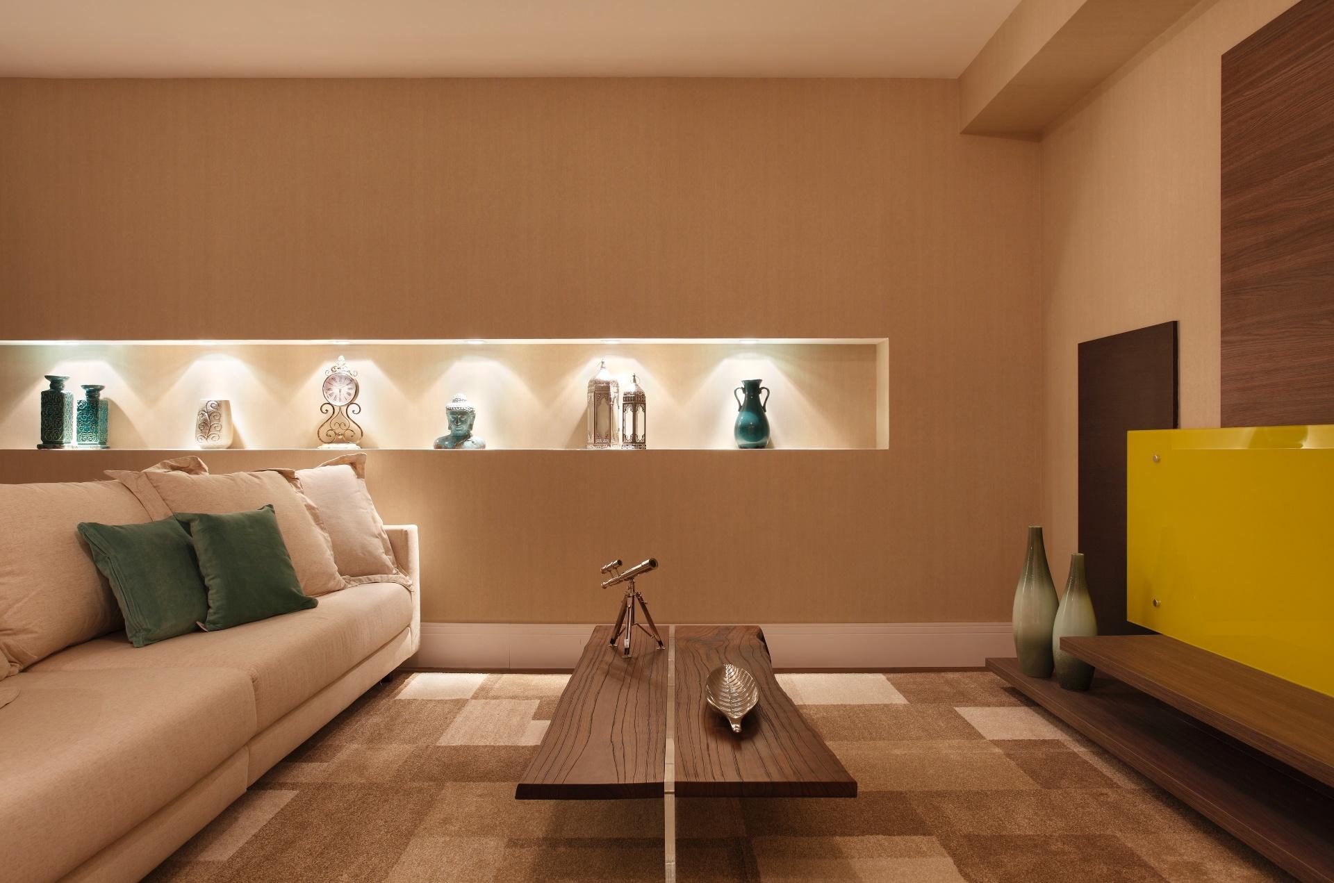 Sala da Família projetada por Andressa Fonseca. A mostra Morar Mais por Menos RJ segue até dia 4 de novembro de 2012, na Av. Epitácio Pessoa, 4.866, Rio de Janeiro