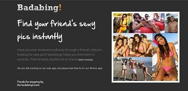 Programa Badabing! analisa perfis no Facebook e reúne imagens sexy de amigos