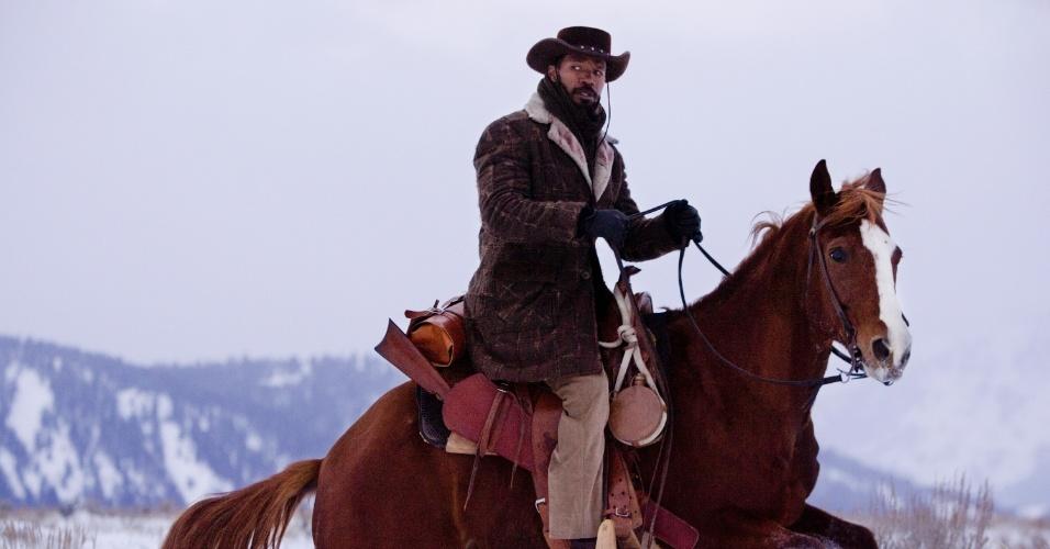 """Novas imagens de """"Django Livre"""", novo longa de Quentin Tarantino foram divulgadas (29/10/12). O ator Jamie Foxx está no elenco"""