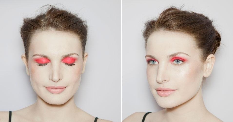 sombra pink - olho fechado