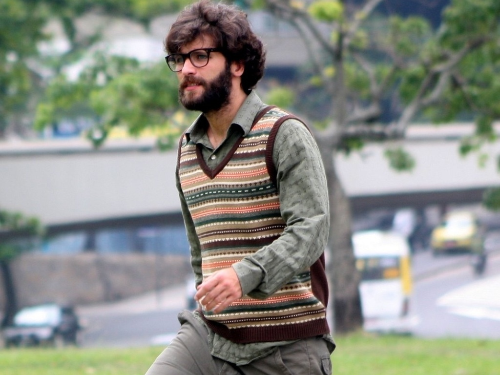 O ator Bruno Gagliasso no set de filmagens de 