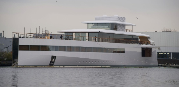 O iate Venus, um projeto pessoal de Steve Jobs está atracado em Aalsmeer, na Holanda