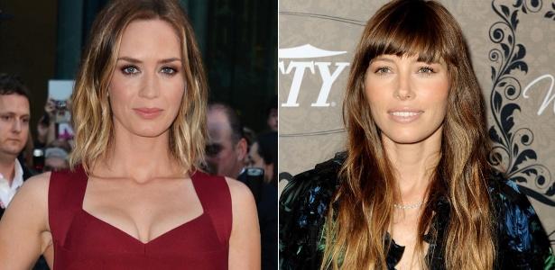 Pontas claras, como as das atrizes Emily Blunt e Jessica Biel, combinam com o clima quente da estação