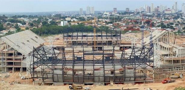 Obras da Arena Pantanal, em Cuiabá: a cidade ficou por último no levantamento
