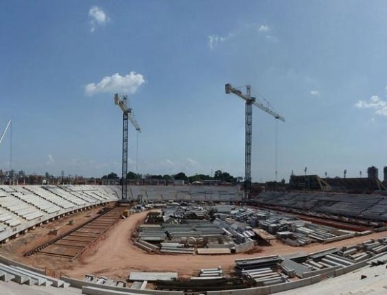 Obras na Arena Amazônia (AM), em outubro de 2012
