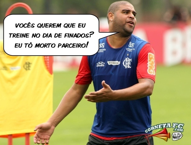 Corneta FC: Adriano justifica falta no Dia de Finados: 