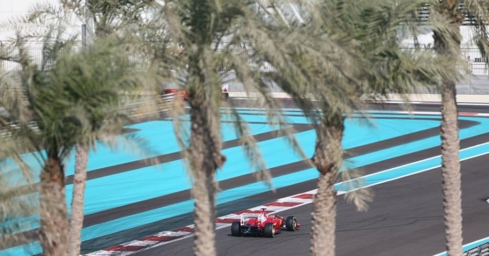 Felipe Massa participa da terceira sessão de treinos livres para o GP dos Emirados Árabes (03/11/2012)