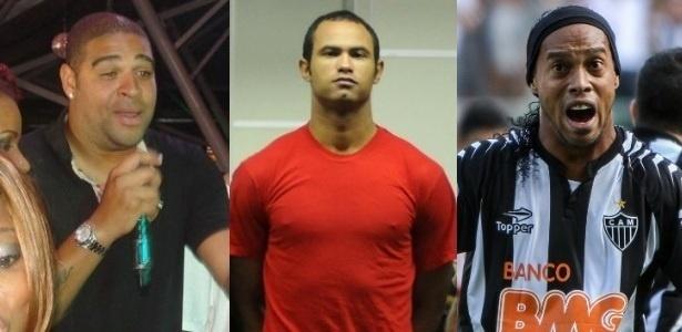 Adriano, Bruno e Ronaldinho Gaúcho irão aos tribunais neste mês de novembro