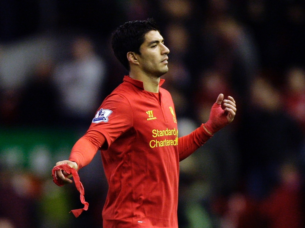 Suárez marcou o único gol do Liverpool no empate com o Newcastle (04/11/2012)