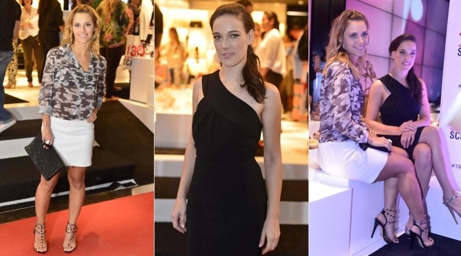 Carolina Dieckmann e Adriana Birolli prestigiaram o lançamento de uma coleção de calçados femininos em Ipanema, zona sul do Rio (6/11/12), Carolina está no ar em