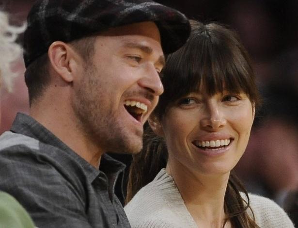 Justin Timberlake e Jessica Biel participam de evento esportivo em Londres (31/10/11)