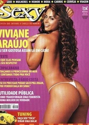 A dançarina e rainha de bateria Viviane Araújo, na capa da revista