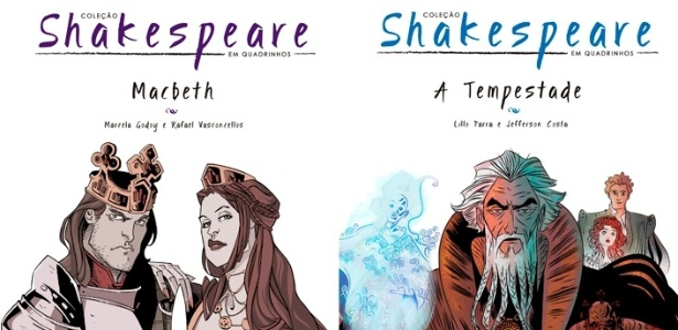 "As obras ""Macbeth"" e ""A Tempestade"", adaptação da editora Nemo"