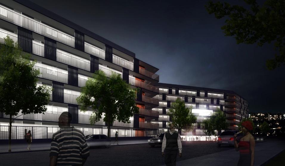 """Categoria Habitação de Interesse Social (menção honrosa): """"Residencial Diogo Pires"""", com arquitetura de Marcos Boldarini e Lucas Nobre"""