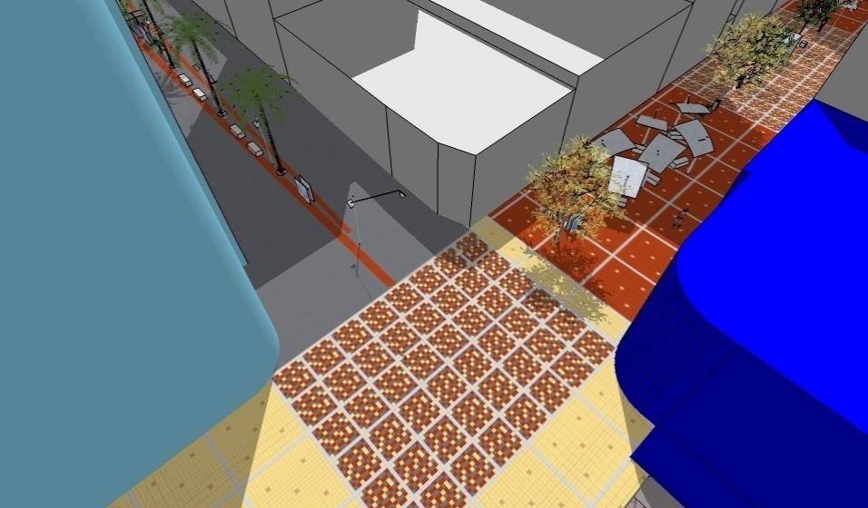 """Categoria Urbanismo (prêmio): """"Reabilitação do Quadrilátero Central do Município de Ribeirão Preto"""", assinado por Rose Elaine Teixeira Borges"""