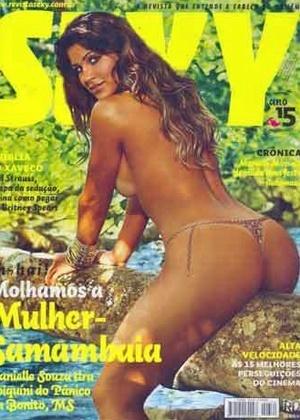"""Danielle souza, a Mulher-Samambaia do """"Pânico na TV"""", na capa da revista """"Sexy"""" de agosto de 2007"""