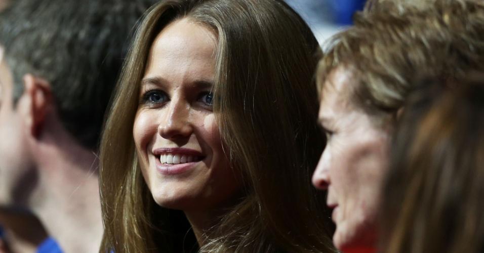 Namorada de Andy Murray, Kim Sears assiste ao duelo contra Novak Djokovic pelas Finais da ATP (07/11/2012)
