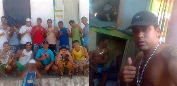 Presos na Paraíba postam mensagens e fotos no Facebook