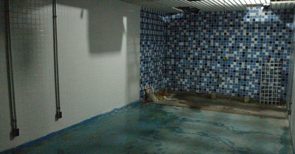 Vestiários quase prontos na Arena do Grêmio, inaugurada dentro de um mês