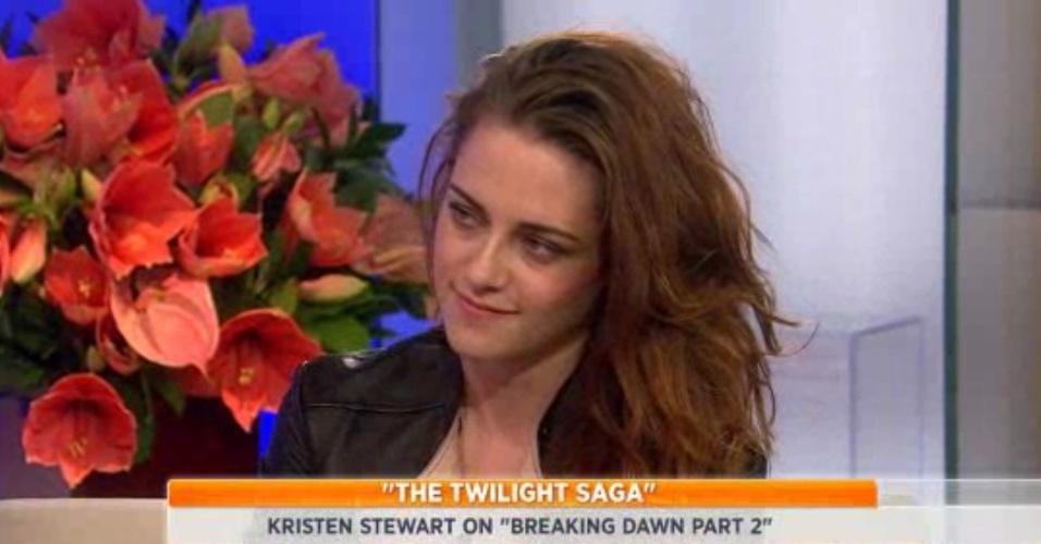 Kristen Stewart participa do programa de TV