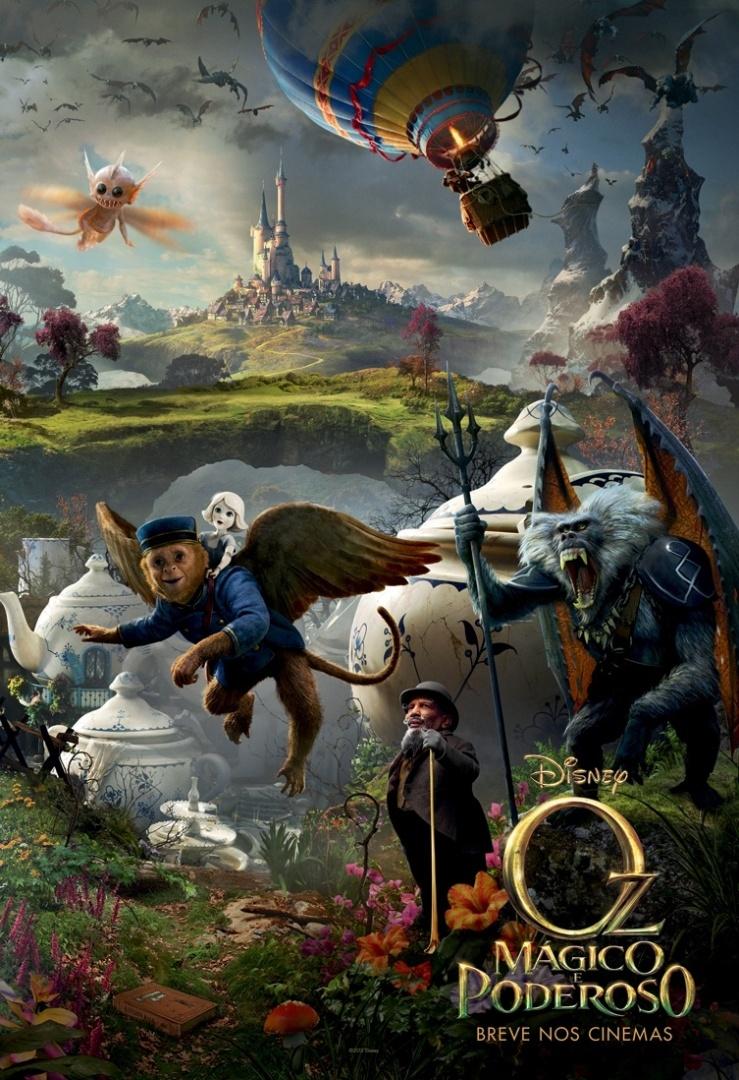 """Novo pôster brasileiro do filme """"Oz: Mágico e Poderoso"""" (8/11/12)"""