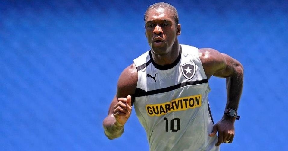 Seedorf se exercita em treinamento do Botafogo, no Engenhão