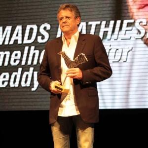 Marcos Paulo em sua última aparição pública, na festa de encerramento do 9° Amazonas Film Festival (09/11/12)