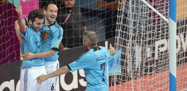 Espanha irá enfrentar novamente a Itália em uma semifinal de Copa do Mundo de futsal