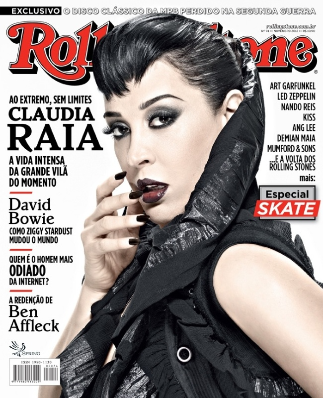A atriz Claudia Raia na capa da revista 