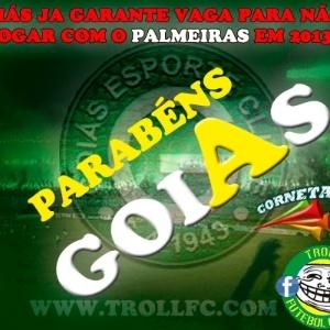 Corneta FC: O Goiás está garantido na série A, pena que o Palmeiras não vai ver isso