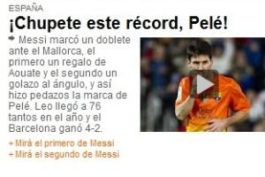 Jornal argentino Olé ironiza Pelé ao reverenciar Lionel Messi