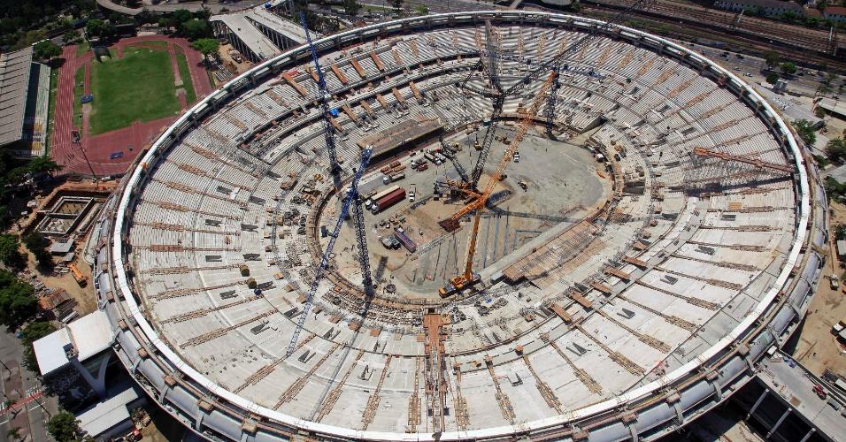 A reforma do Maracanã completou 75% das obras em 12 de novembro