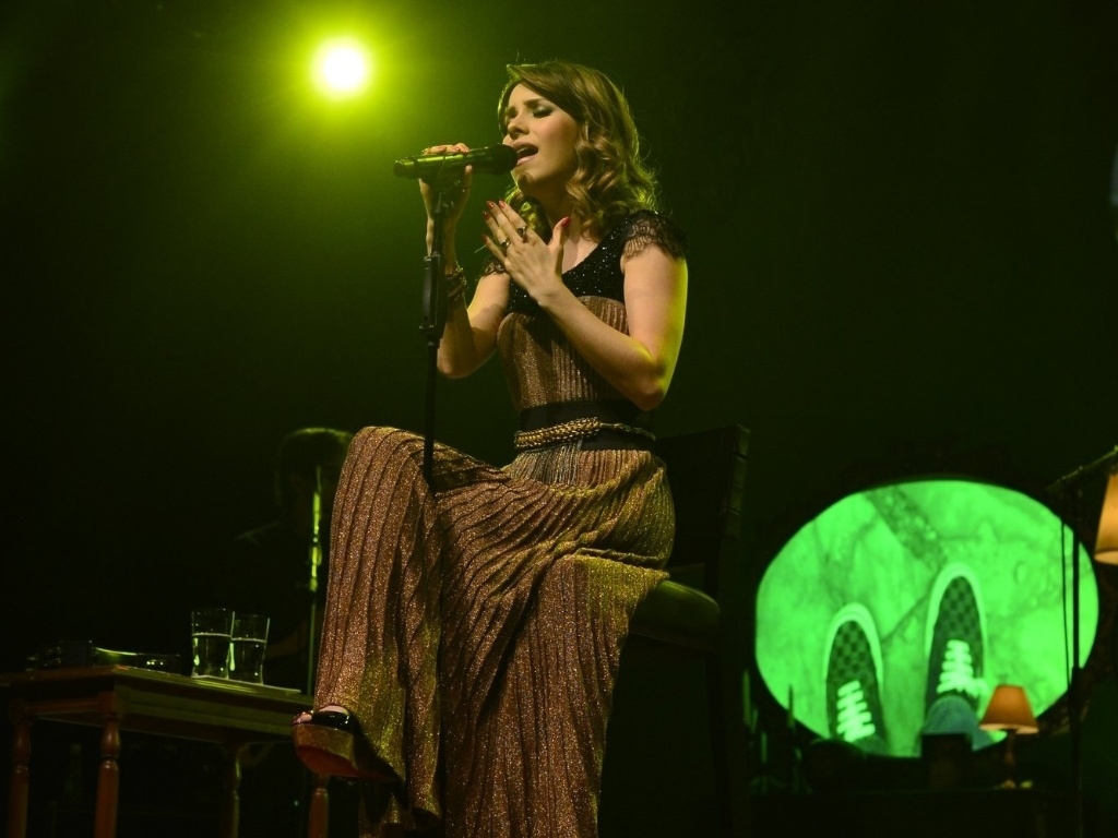 Sandy fez show do álbum