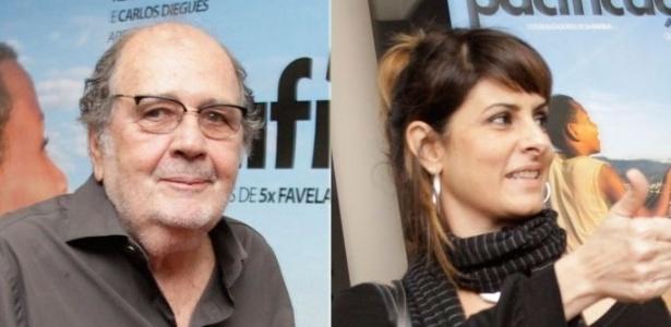 Cacá Diegues e Fernanda Abreu na pré-estreia do filme