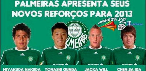 Corneta FC: Palmeiras aumenta lista de reforços para 2013