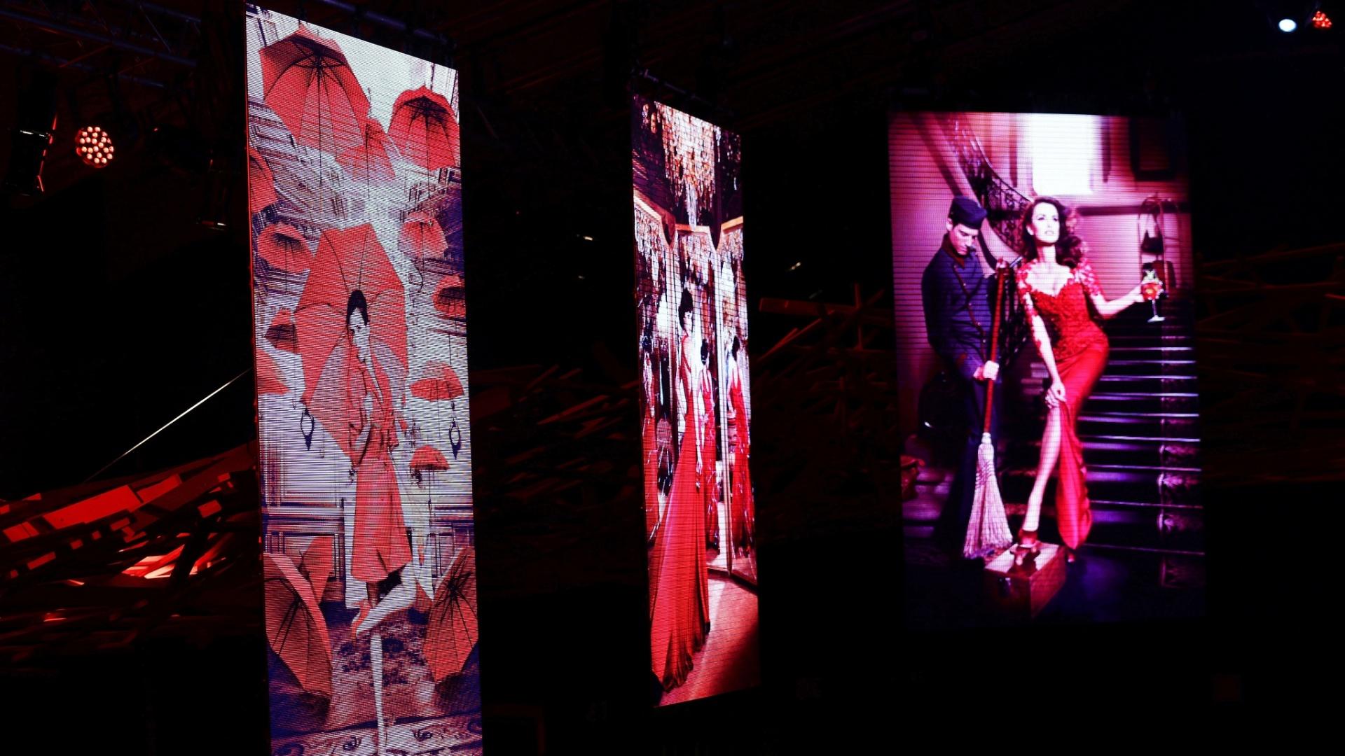 Fotos do calendário foram exibidas em festa de lançamento em Milão, na Itália (13/11/2012)