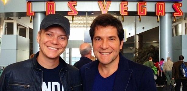 Michel Teló e Daniel em Las Vegas para o Grammy Latino (13/11/12)