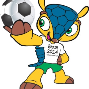 Tatu-bola, mascote da Copa de 2014